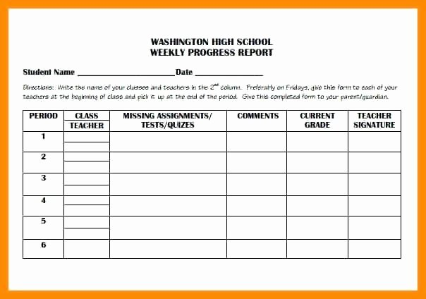 Elementary Progress Report Template Lovely to Analyze the Progress A Project Performance An