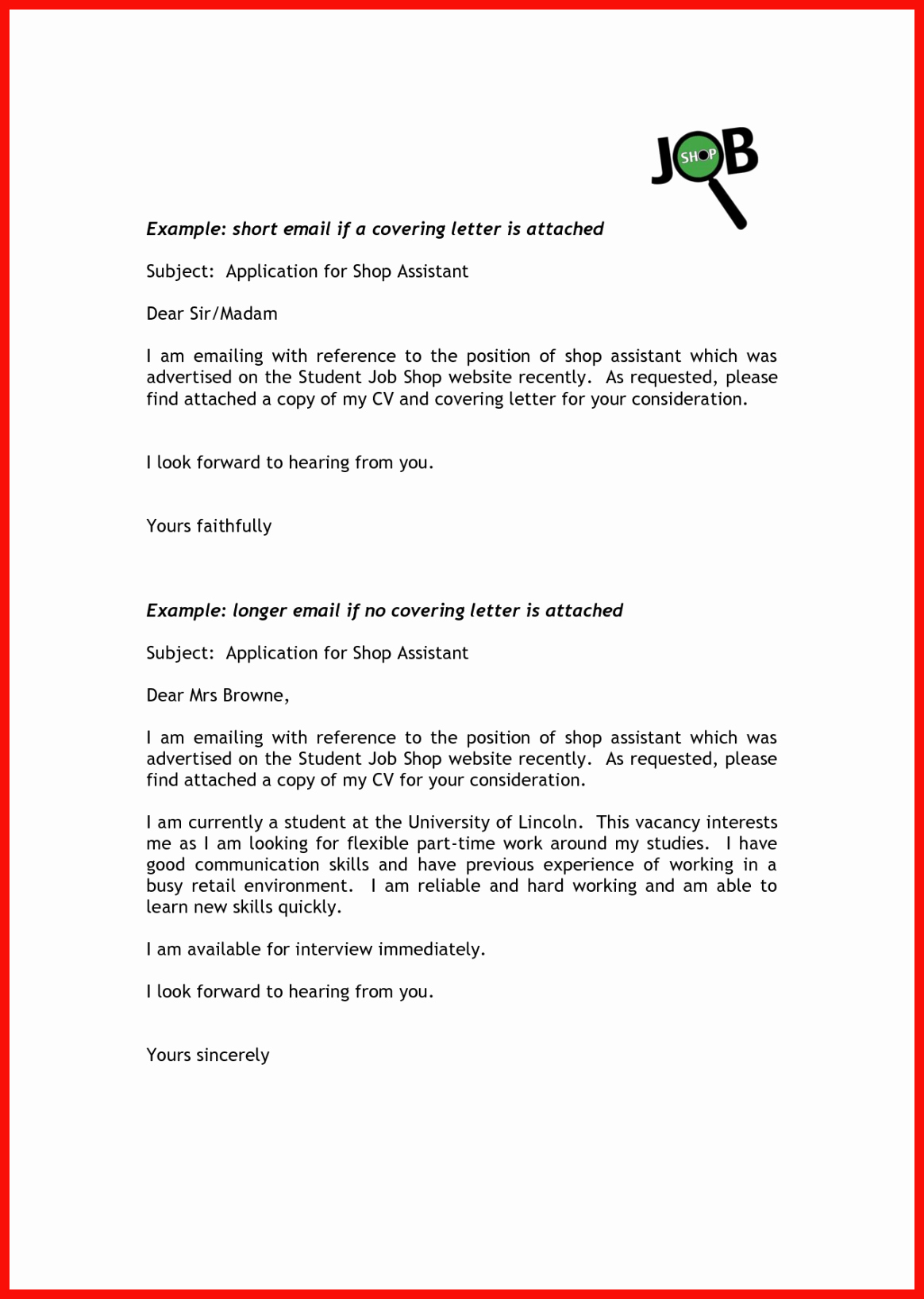 Email Cover Letter Template Best Of Sample Short Cover Letter