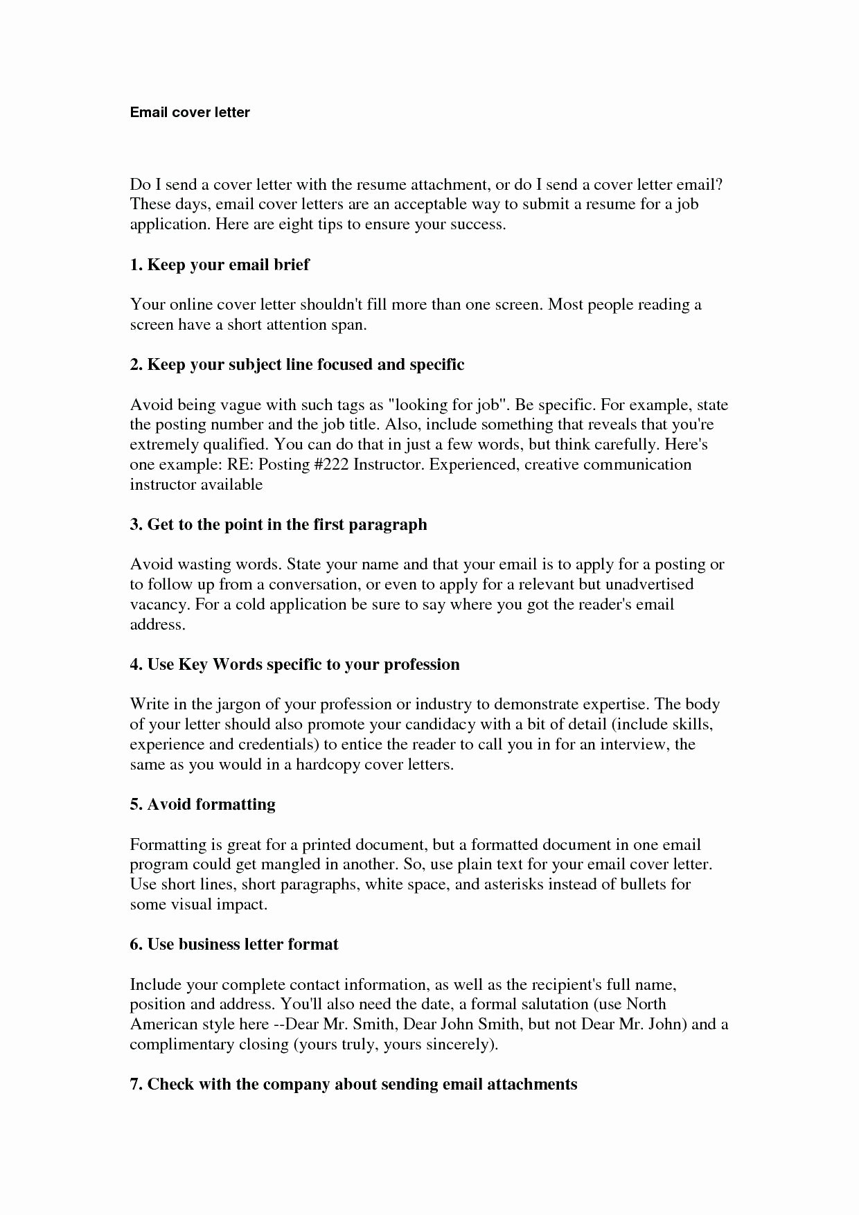 Email Cover Letter Template Best Of Template Cover Letter Template Email