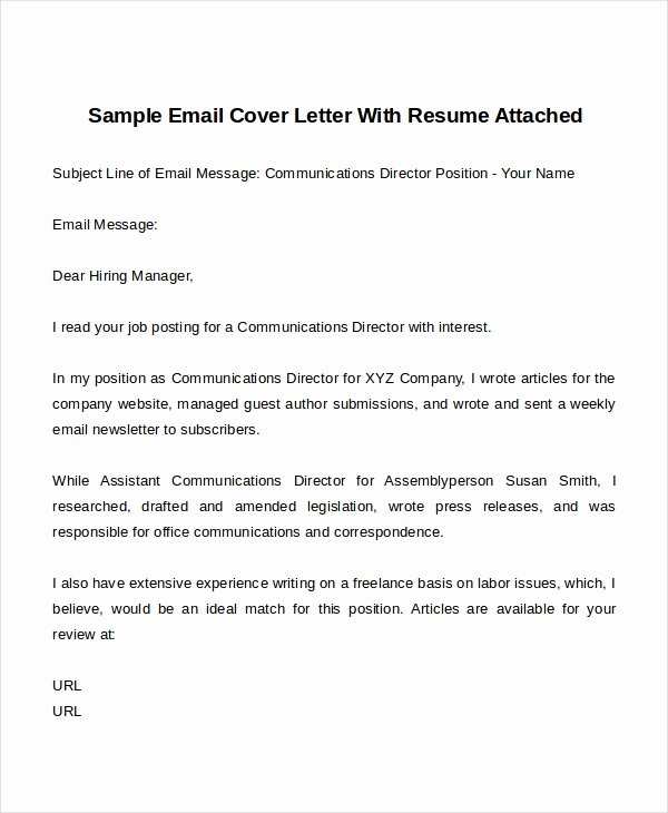 Email Cover Letter Template Elegant 14 Cover Letter Templates Free Sample Example format