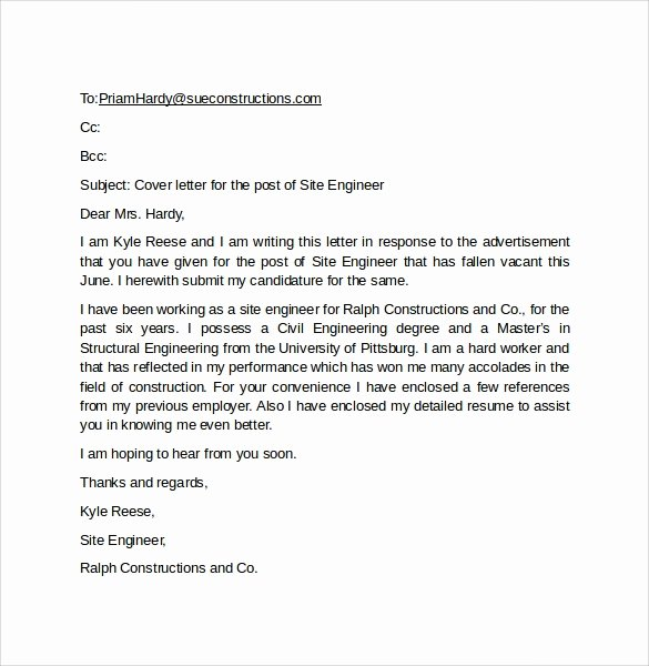 Email Cover Letter Template Inspirational 10 Email Cover Letter Examples to Download