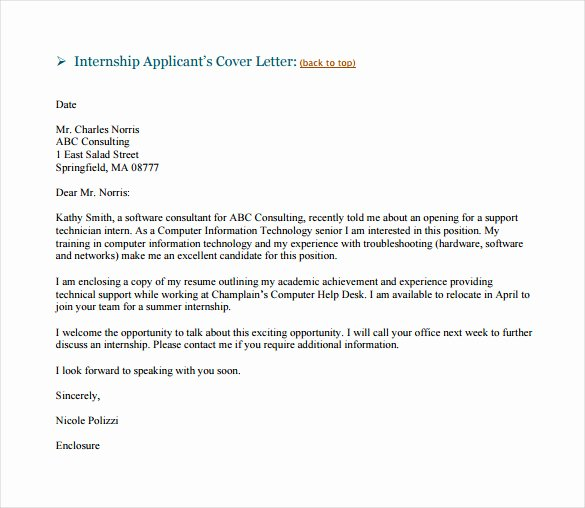 Email Cover Letter Template Unique 8 Email Cover Letter Templates Free Sample Example