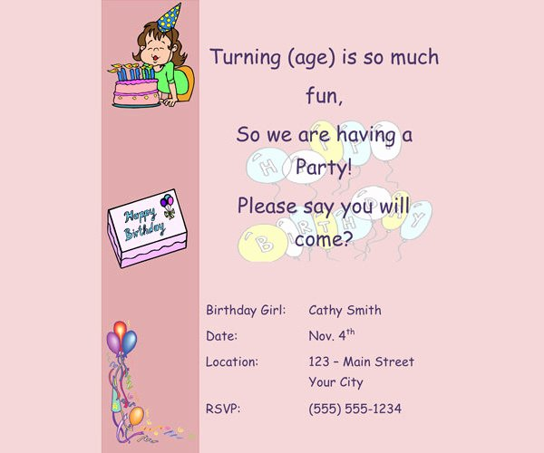 Email Party Invite Template Beautiful Birthday Invitation Email Template 23 Free Psd Eps