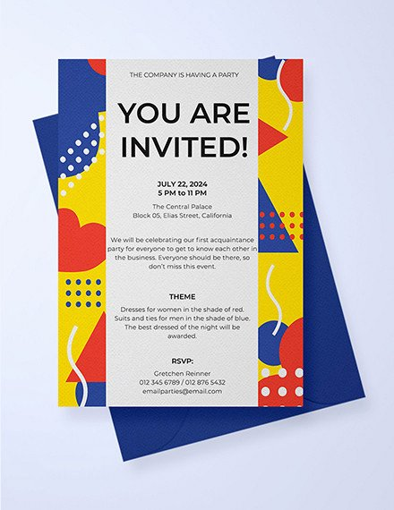 Email Party Invite Template Elegant 13 Invitation Email Examples & Samples Pdf Word Psd