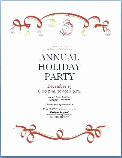 Email Party Invite Template Elegant Corporate Holiday Party Invitation Template Free Christmas