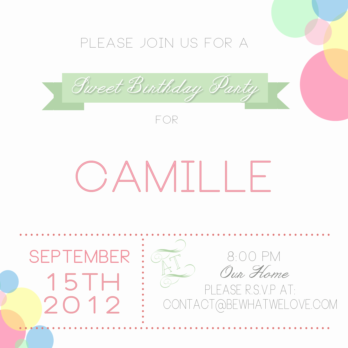 Email Party Invite Template Unique Free Email Party Invitations
