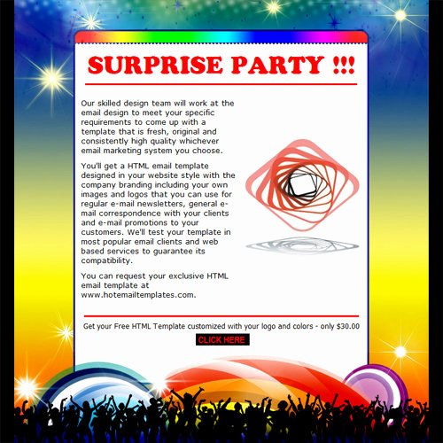 Email Party Invite Template Unique Party Invitation