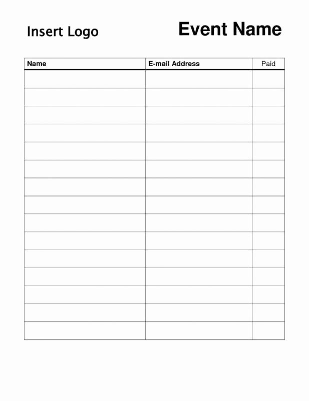 Email Sign Up List Template Awesome 18 Email List