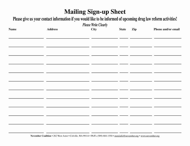 Email Sign Up Sheet Template Elegant 38 Best Sign Up Images On Pinterest