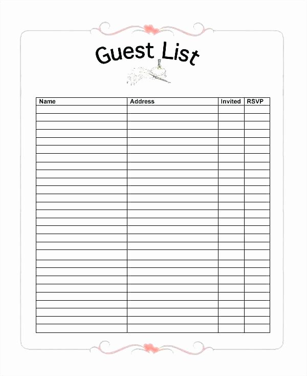 Email Signup List Template Inspirational Email Mailing List Template Potluck List Template Unique