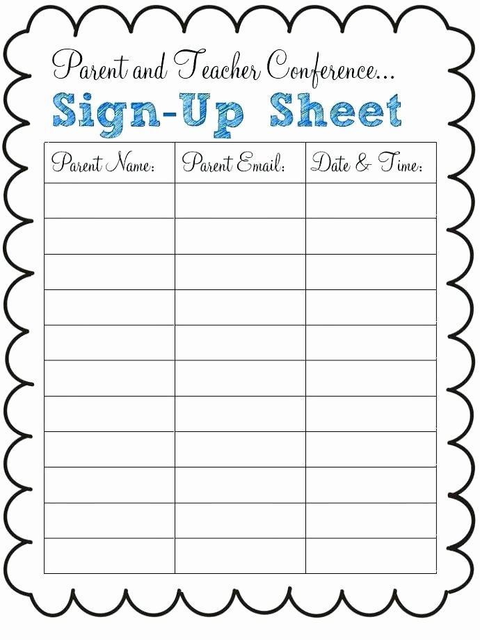 Email Signup Sheet Template Awesome Email Sign Up Sheet Templates Free Potluck Line Excel