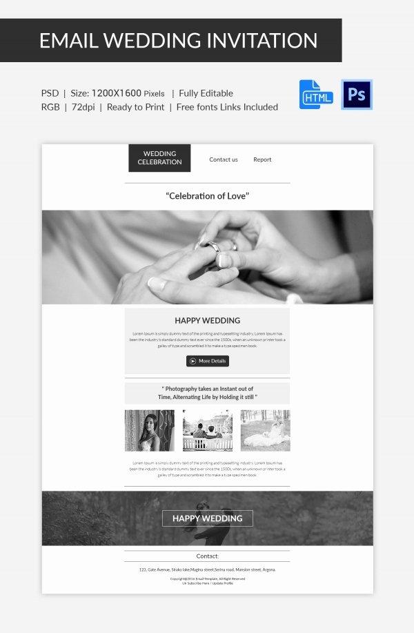 Email Wedding Invitation Template Beautiful Wedding Invitation Template 71 Free Printable Word Pdf