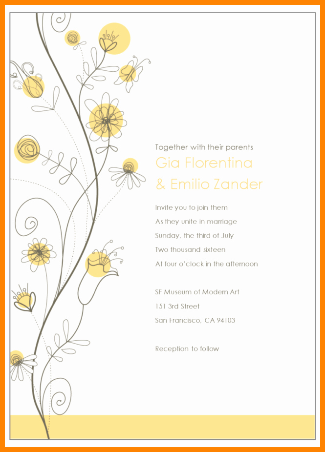 Email Wedding Invitation Template Best Of Editable Email Wedding Invitation Templates Tags with