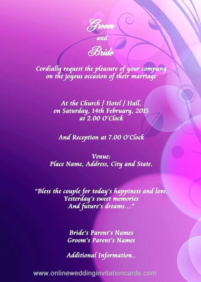 Email Wedding Invitation Template Inspirational Email Invitation Templates Free Letter for Visa Sample