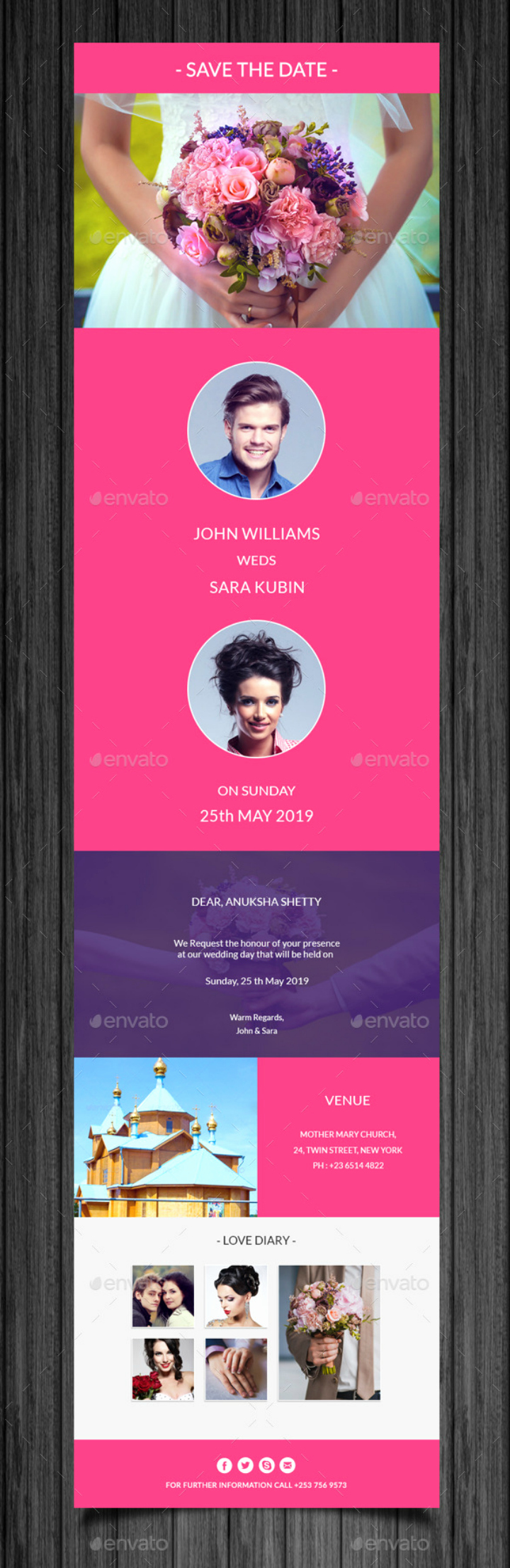 Email Wedding Invitation Template Lovely 14 Wedding Email Designs & Templates Psd Ai