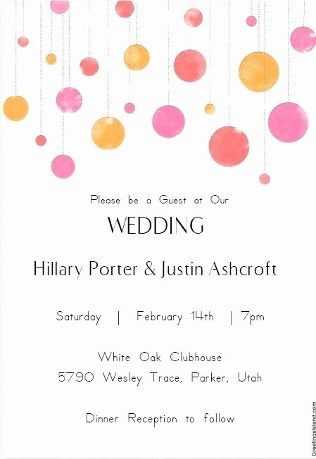 Email Wedding Invitation Template Unique Marriage Invitation Email format for Colleagues Free E
