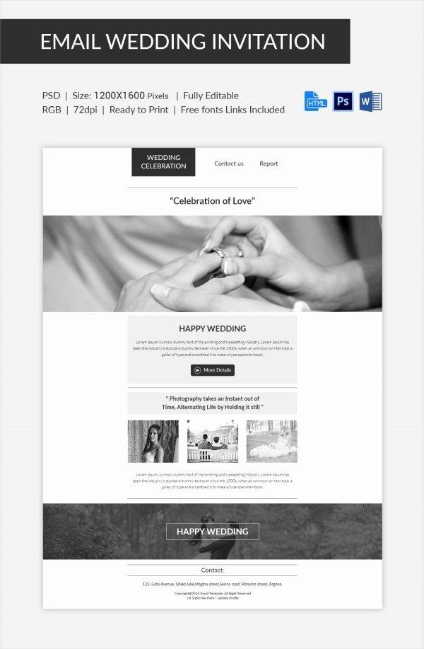 Email Wedding Invitation Template Unique Wedding Invitation Template 71 Free Printable Word Pdf
