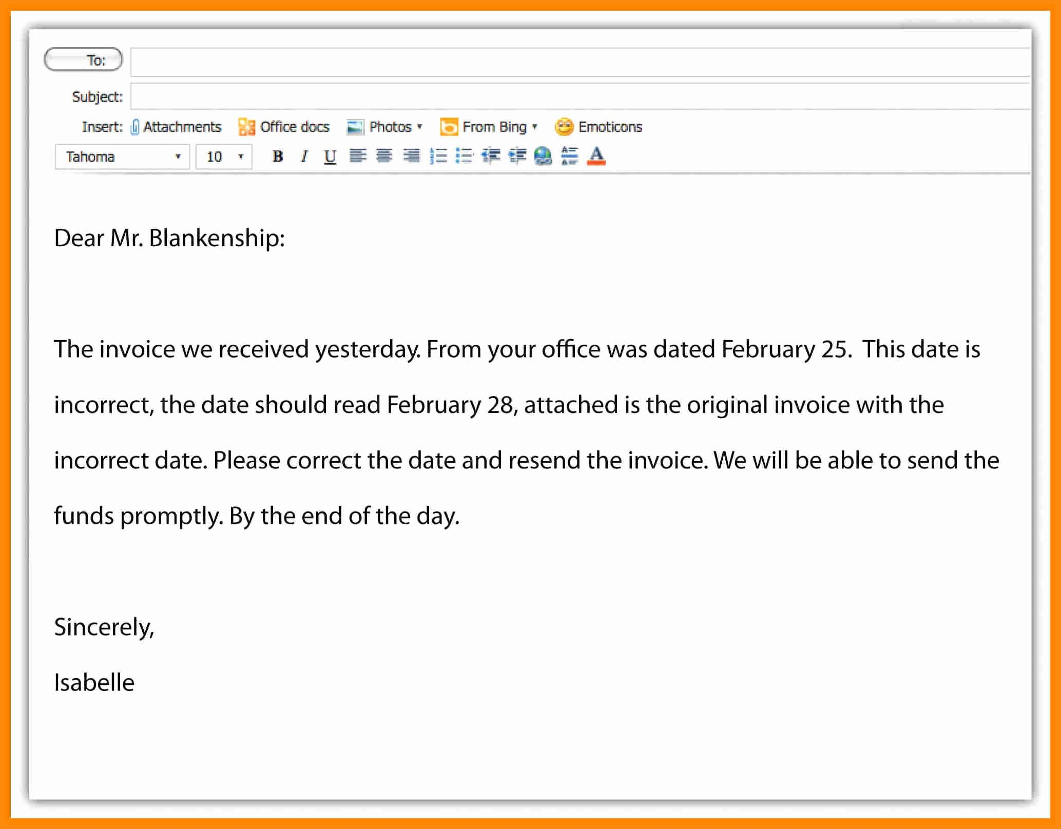 Email Writing Template Professional Awesome Email Writing Examples