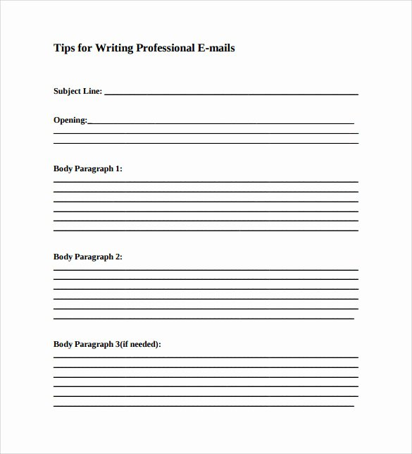 Email Writing Template Professional Best Of 8 Sample Professional Email Templates – Pdf