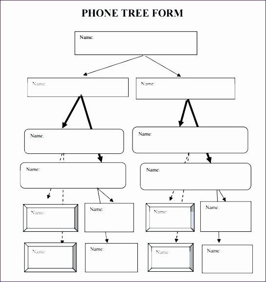 Emergency Call Tree Template Fresh Printable Phone Tree Templates Doc Excel Free Template