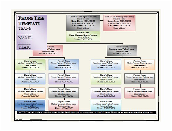 Emergency Call Tree Template Unique 12 Printable Phone Tree Templates Doc Excel Pdf