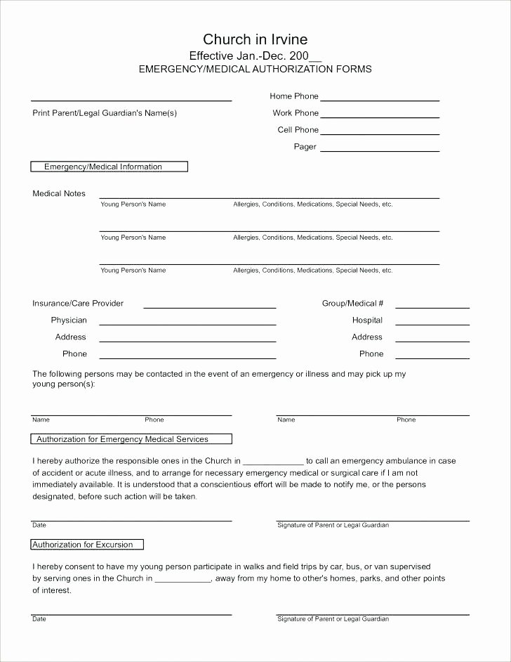 Emergency Medical form Template Awesome Emergency Medical form Template – Falgunpatel