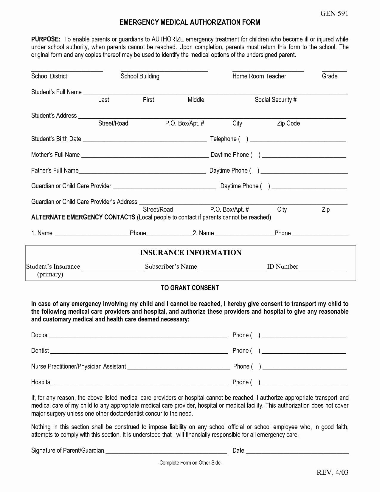 Emergency Medical form Template Awesome Emergency Medical form Template – Medical form Templates