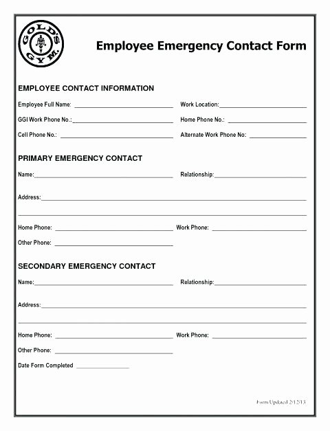 Emergency Medical form Template Beautiful Emergency Medical form Template – Falgunpatel