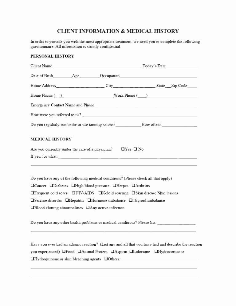 Emergency Medical form Template Elegant Employee Information form Emergency Contact and Medical