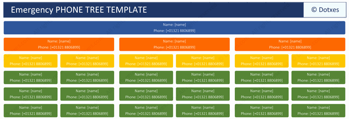 Emergency Phone Tree Template Best Of Phone Tree Template for Word and Excel Dotxes