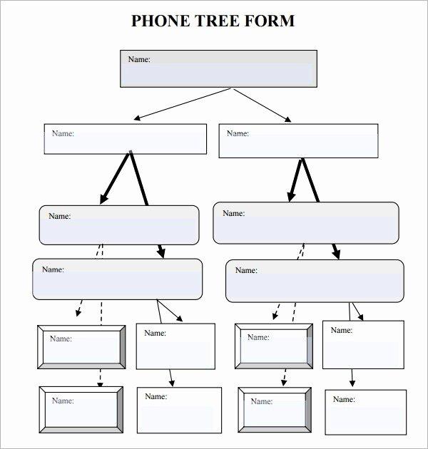 Emergency Phone Tree Template Fresh 5 Free Phone Tree Templates Word Excel Pdf formats