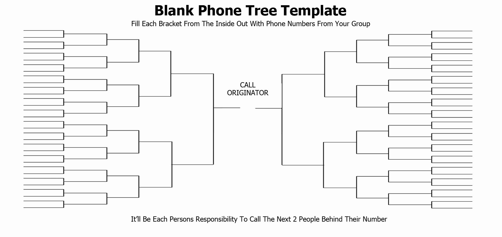 Emergency Phone Tree Template Inspirational 5 Free Phone Tree Templates Word Excel Pdf formats