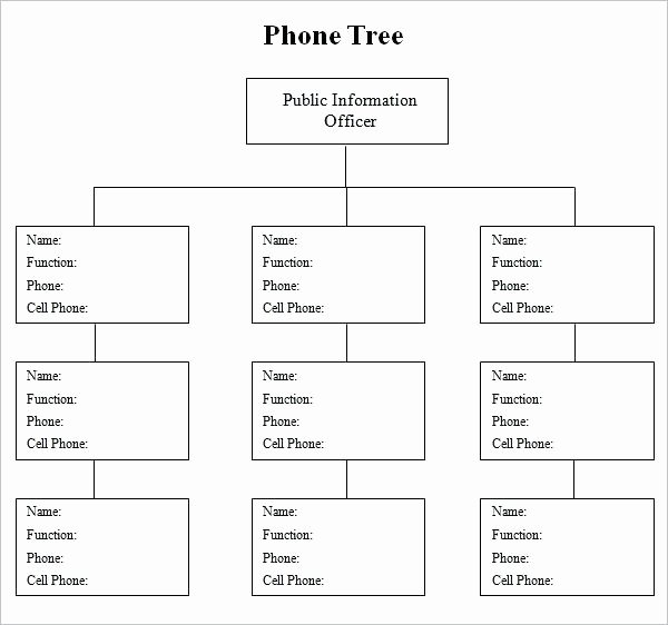 Emergency Phone Tree Template New Printable Phone Tree Templates Doc Excel Free Template
