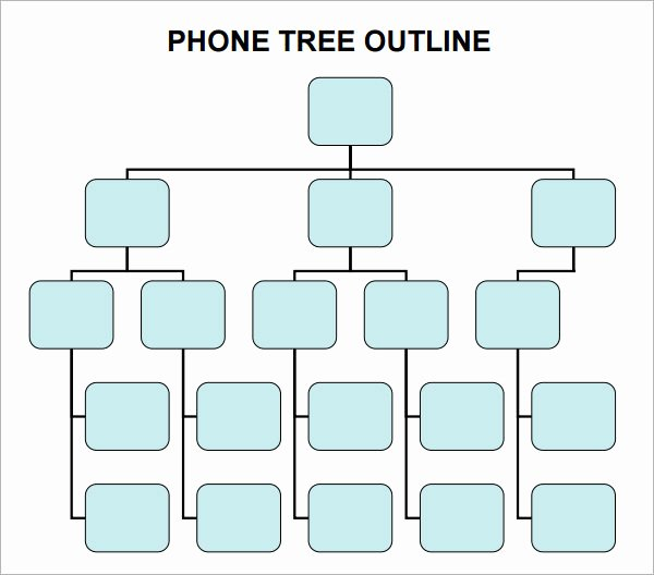 Emergency Phone Tree Template Unique 4 Sample Phone Tree Templates to Download
