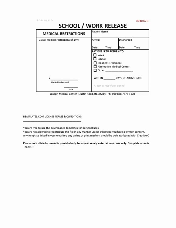 Emergency Room Doctor Note Template Elegant 42 Fake Doctor S Note Templates for School & Work