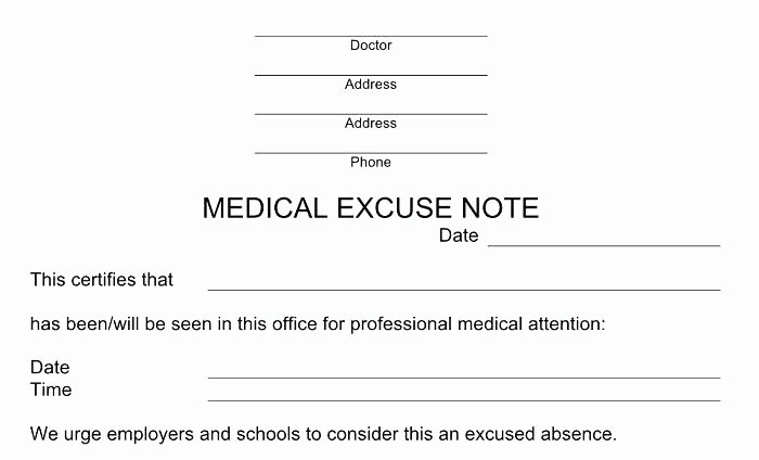 Emergency Room Doctor Note Template Elegant Doctor Sick Note for Work Template Emergency Room Doctors