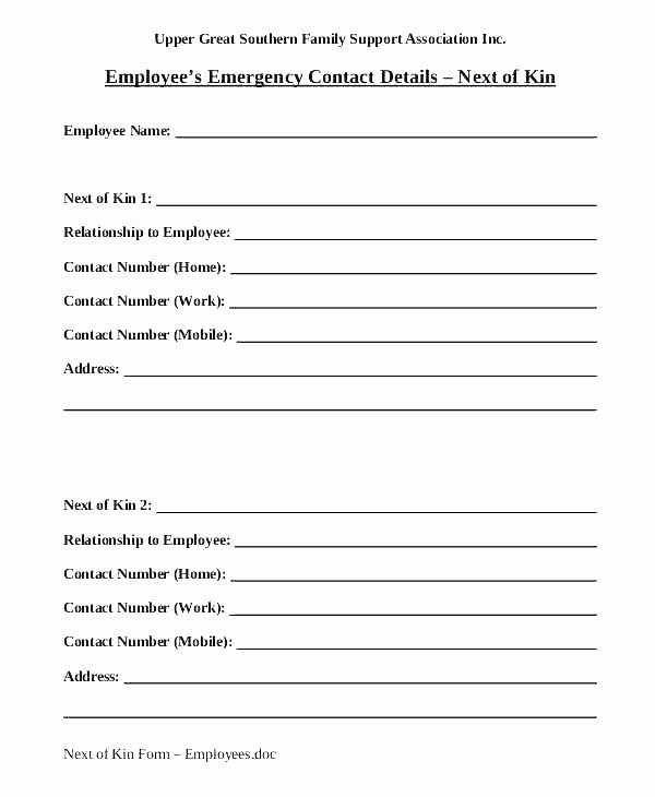 Emergency Room form Template Best Of Emergency form Template Emergency Medical form Template