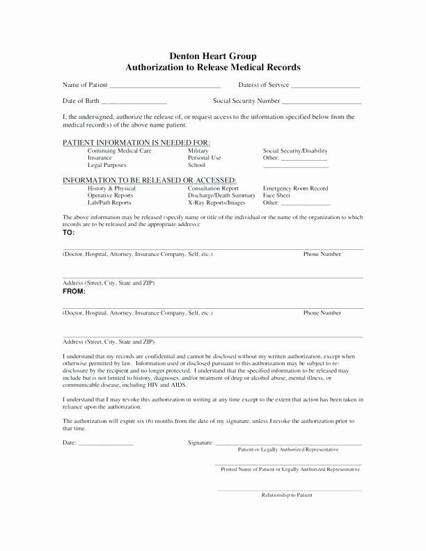 Emergency Room form Template Luxury Return to Work Release form Emergency Room Fake forms Post