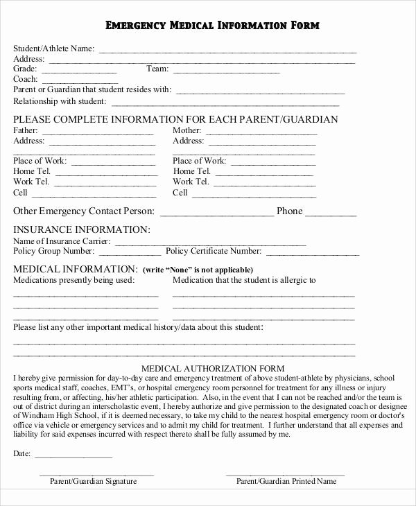 Emergency Room form Template Unique Emergency Room Report Template 28 Images Best Photos