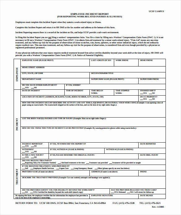 Employee Accident Report Template Best Of 15 Employee Incident Report Templates – Pdf Word Pages