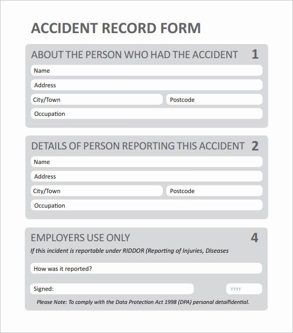 Employee Accident Report Template Best Of Employee Incident Report Pdf