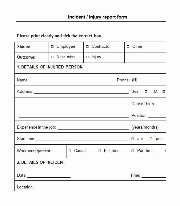 Employee Accident Report Template Elegant Auto Accident Report Template Templates Resume