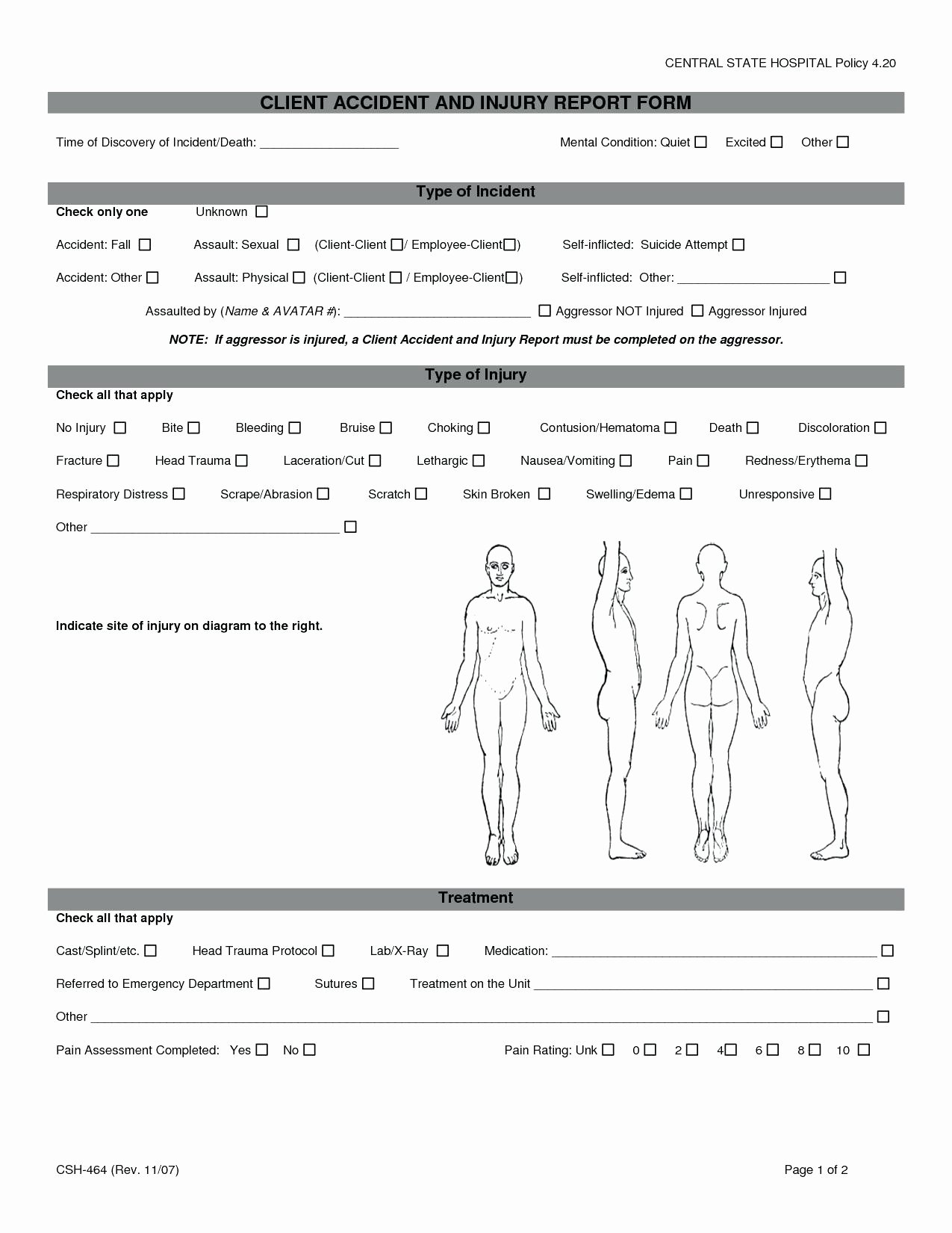 Employee Accident Report Template Fresh Employee Accident Report Template