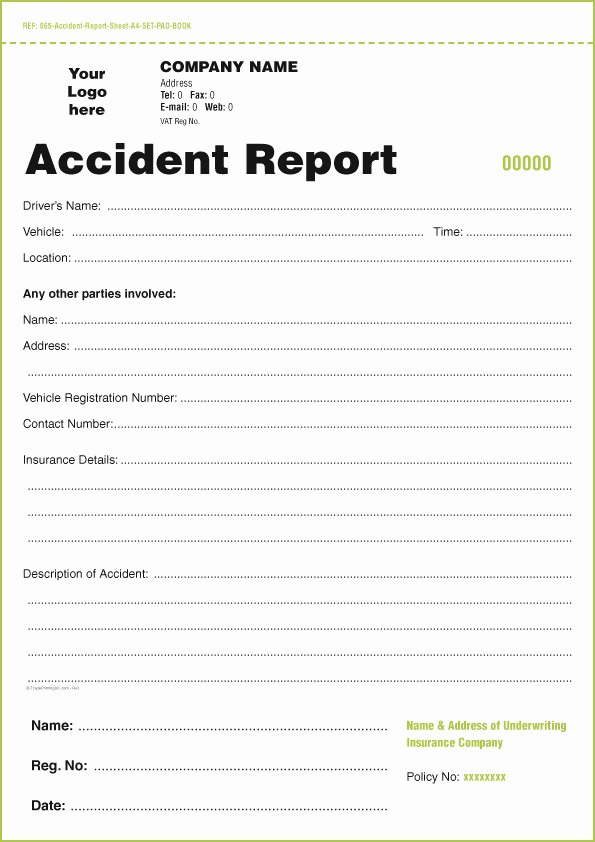 Employee Accident Report Template Inspirational Accident Report form Template Free Templates Resume