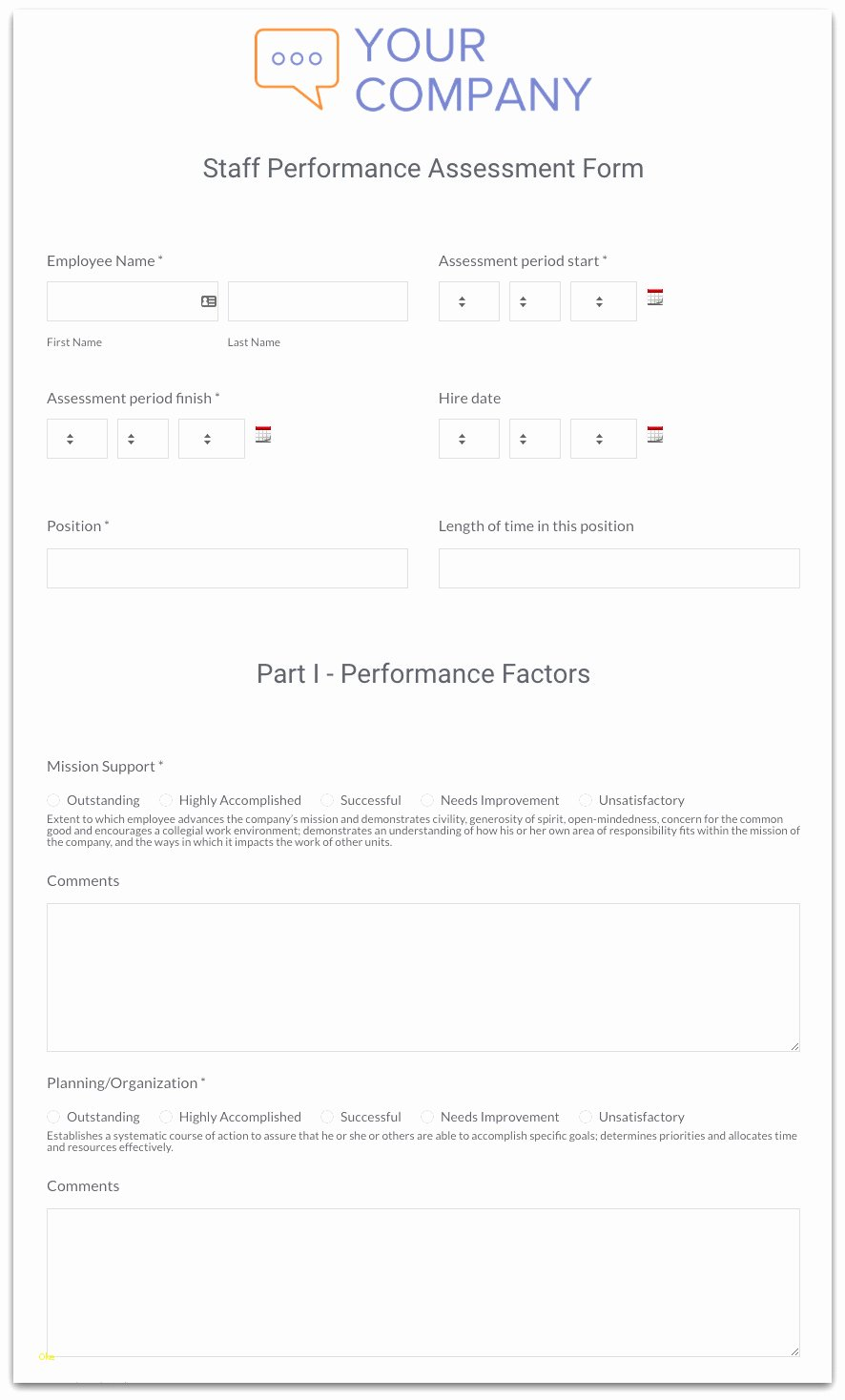 Employee Annual Review Template Beautiful Unique Annual Performance Review Template