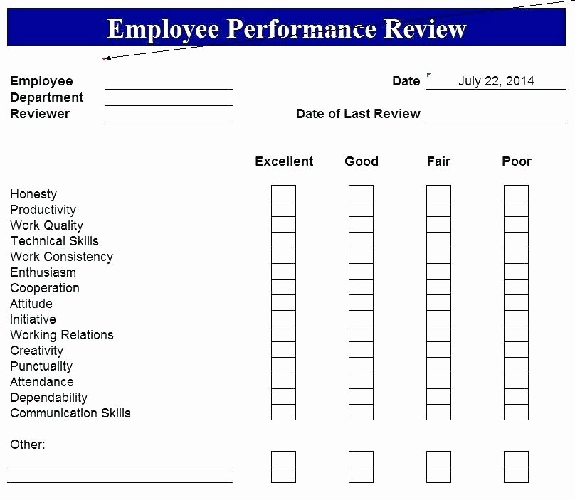 performance evaluation form template degree review employee appraisal sample format samples