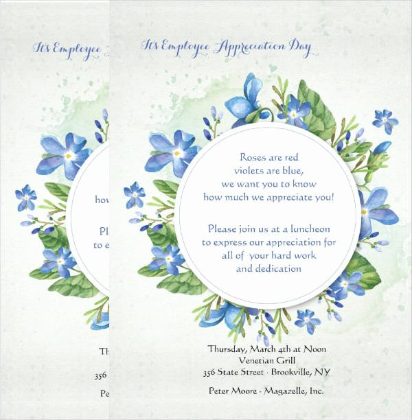 Employee Appreciation Day Flyer Template Beautiful 51 Invitation Flyer Design Templates Psd Ai