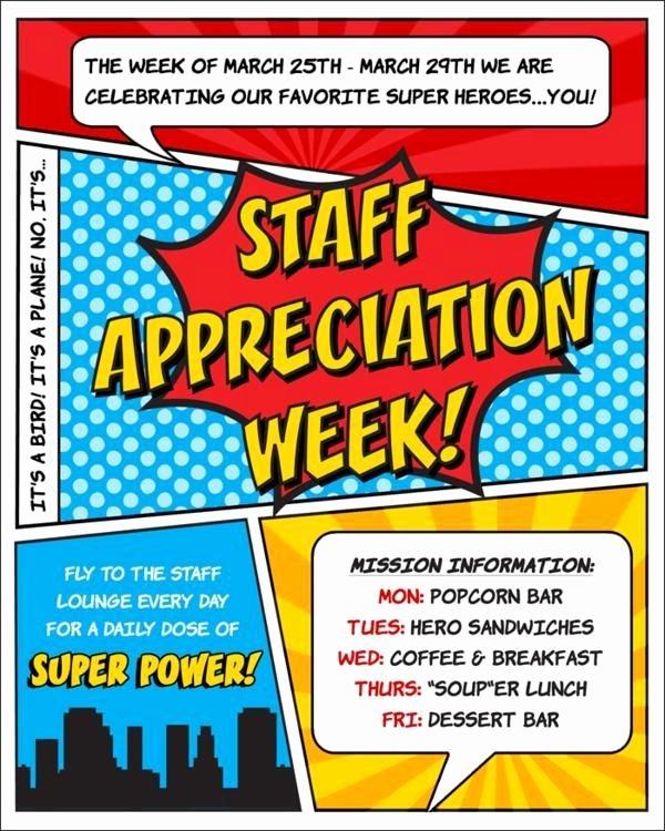 Employee Appreciation Day Flyer Template Fresh Superhero Flyer Template Google Search