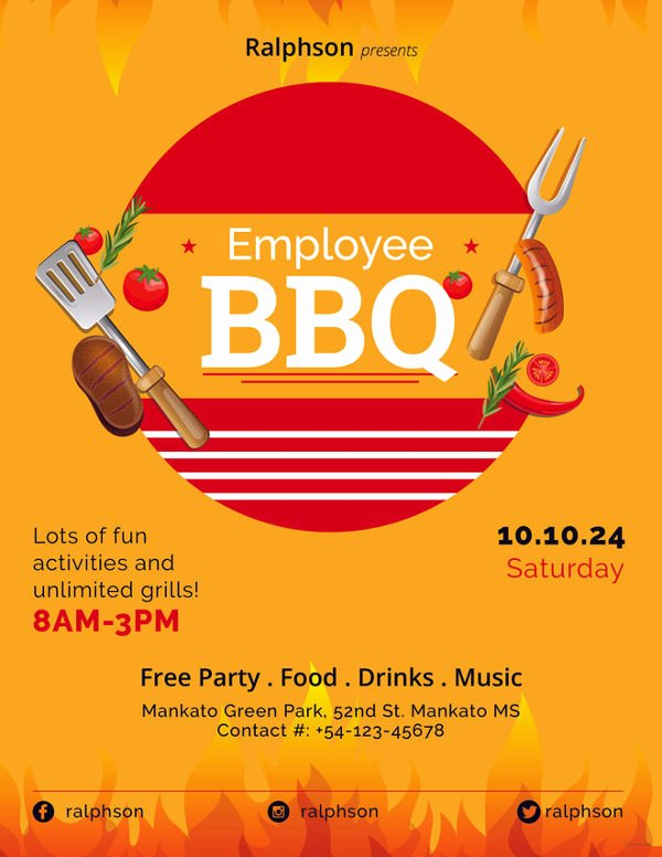 Employee Appreciation Day Flyer Template Luxury 61 Party Flyer Templates Psd Eps Ai Word