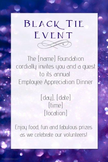 Employee Appreciation Day Flyer Template Luxury Black Tie Dinner Employee Appreciation Party Template